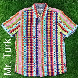Mr. Turk Button Up Vibrant Half Sleeve Shirt XL